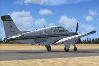 Screenshot of Beechcraft F33A Bonanza N2209B preparing for take-off.