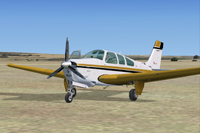 Screenshot of Beechcraft F33A Bonanza N55JT on the ground.