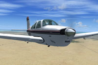 Screenshot of Beechcraft F33A Bonanza N8323K in flight.