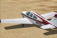 Screenshot of Beechcraft F33A Bonanza N927CF on the ground.