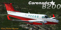 Screenshot of Beechcraft King Air B200 in flight.