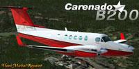 Screenshot of Beechcraft King Air B200 in flight.