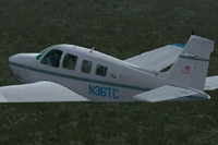 Screenshot of Raytheon A36 Bonanza N36TC in flight.