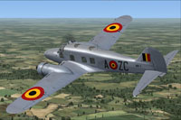 Screenshot of Belgian Air Force Avro Anson C12 in flight.