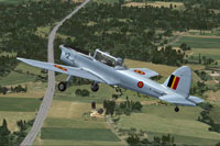 Screenshot of Belgian Air Force de Havilland Chipmunk in flight.