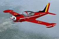 Screenshot of Belgian Marchetti SF260 'Red Devil' in flight.