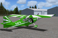 Screenshot of Bellanca Citabria 7KCAB N4FR on the ground.