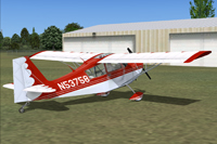 Screenshot of Bellanca Citabria 7KCAB on the ground.