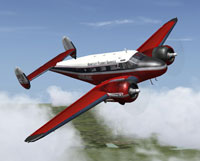 Screenshot of Bentley Flight Service Beechcraft D18S in flight.