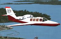 Screenshot of Beriev BE-103 in flight.