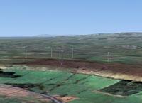 Screenshot of Blackburn Wind Farm.