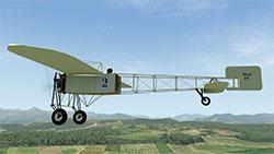 Bleriot XI in X-Plane 11.