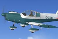 Screenshot of Zlin Z-142 C-ZECH in flight.