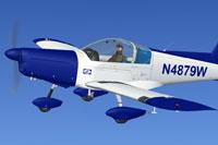 Screenshot of Zlin Z-142 N4879W in flight.