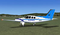 Screenshot of Bluegrass Airlines Beech Baron 58 on the ground.