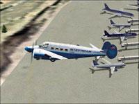 Screenshot of Bluestream Airlines VA Beech G-18 in flight.