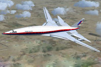 Screenshot of Boeing 2707 SST in flight.