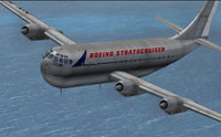 Screenshot of Boeing 377 Stratocruiser in flight.