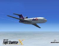 Splash Screen showing Boeing 727-100 in flight.