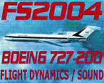 Screenshot of Boeing 727-200 Flight Dynamics in flight.