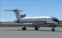Screenshot of Boeing 727 AA Astrojet on the ground.