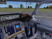 Screenshot of Boeing 737-800 cockpit.