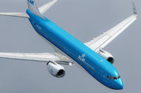 Screenshot of Boeing KLM 737-800 in the air.