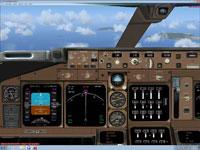 Screenshot of Boeing 747-400 panel.