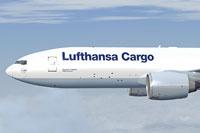 "Screenshot of ""Hallo Germany"" Boeing 777 in flight."