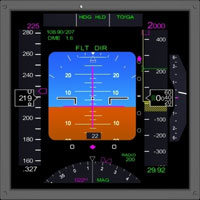 Image of Boeing 777 style PFD.