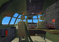 Screenshot of Boeing B-377/C-97 Military cockpit.