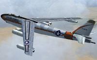 Screenshot of Boeing B-47 Stratojet in flight.