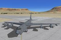 Screenshot of Boeing B-52G taxiing to runway.