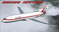 Screenshot of Boeing House Colors 727-200 in flight.