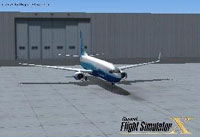 Splash Screen showing Boeing outside hangar.