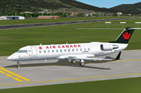 Screenshot of Bombardier Canadair CRJ 200 on runway.