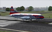 Screenshot of Braniff Airways CV-340-32 on runway.