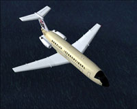 Screenshot of Braniff BAC One-Eleven 200 in flight.