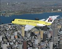 Screenshot of Braniff BAC One-Eleven 200 in flight.