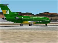 Screenshot of Braniff Boeing 727-27C on runway.