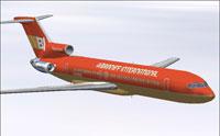 Screenshot of Braniff Red in flight.