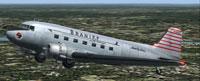 Screenshot of Braniff Douglas DC-3 in flight.