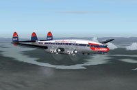 Screenshot of Braniff Lockheed L-049 Constellation in flight.
