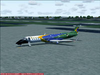 Screenshot of Brasil Airlines ERJ-145XR on the ground.