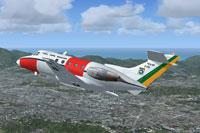 Screenshot of Brazil Air Force De Havilland DH125 in flight.