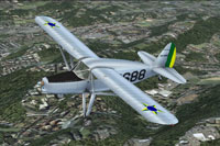 Screenshot of Brazilian Fairchild F24R in flight.