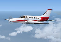 Screenshot of Briko Air Services Cessna 402C in flight.