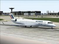 Screenshot of Britair Bombardier/Canadair CRJ700-ER on runway.