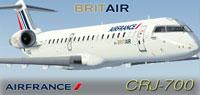Screenshot of Britair CRJ700 in flight.