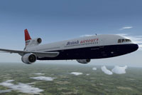 Screenshot of British Airtours Lockheed L-1011 TriStar in flight.